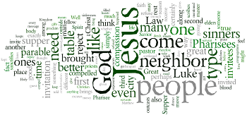 Second Sunday after Trinity 2016 Wordle