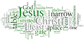 Seventeenth Sunday after Trinity 2016 Wordle