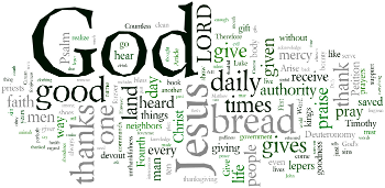 National Day of Thanksgiving 2012 Wordle