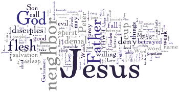 Mid-week Lent II 2014 Wordle