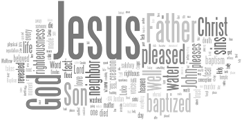 Baptism of Our Lord 2015 Wordle