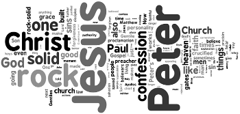 Confession of St. Peter 2015 Wordle