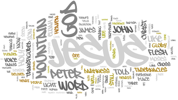 The Transfiguration of Our Lord 2016 Wordle