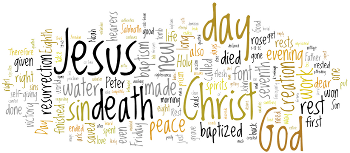 Easter Vigil 2013 Wordle