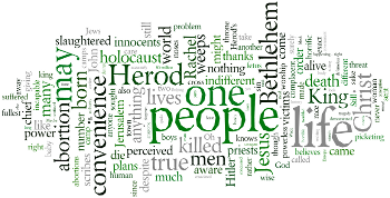 Prayer Service of Remembrance for Victims of Abortion 2015 Wordle